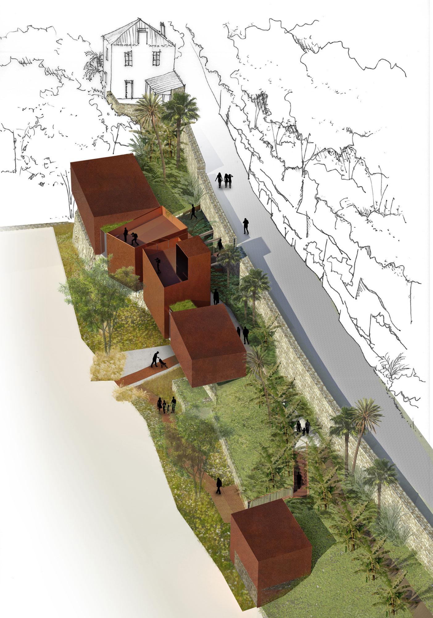 Construction d 39 un bureau d 39 information touristique for Agence brun paysage